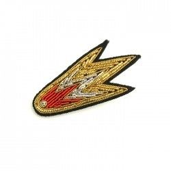 "MACON & LESQUOY HAND-EMBROIDERED ""COMET"" PINブローチ"