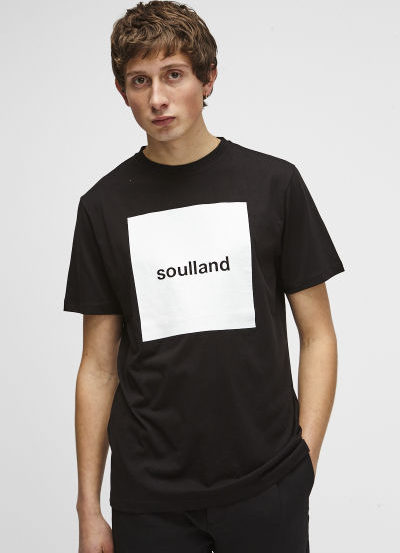 SOULLAND (ソウルランド) LOGIC MANSON T-SHIRT W.PRINT – BLACK